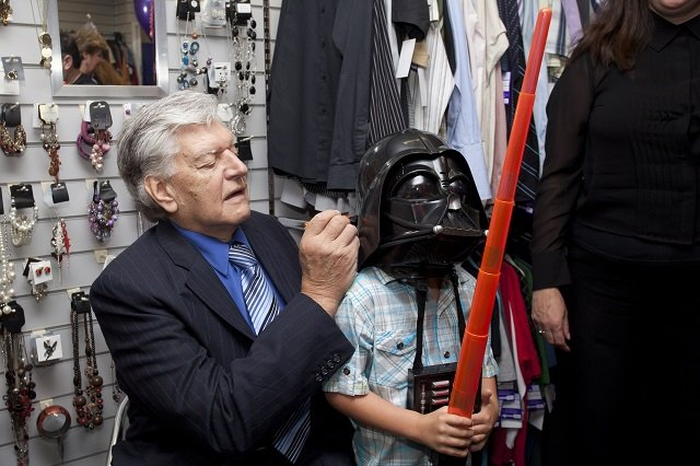 Sense-West-Wickham-shop-opened-by-actor-Dave-Darth-Vader-Prowse-signing-Calum-Verity