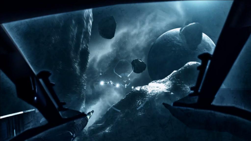 скриншот из EVE Valkyrie от CCP Games, разработанной специально для Oculus Rift