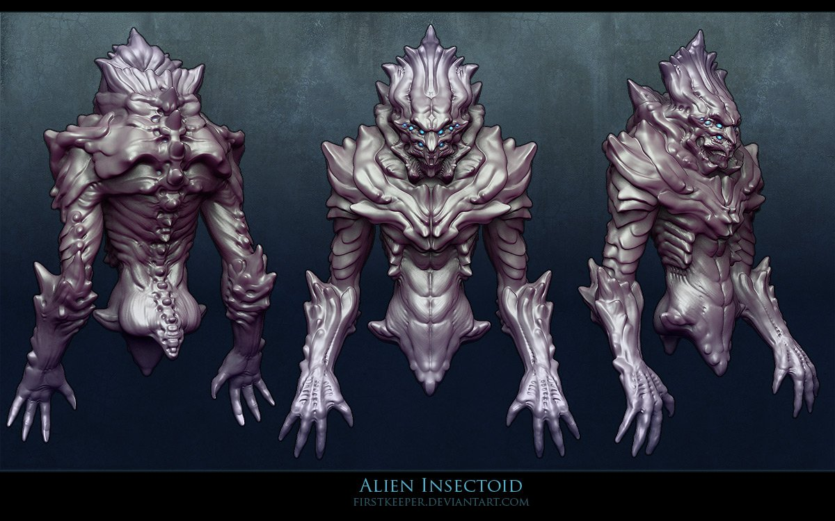 Alien_Insectoid_sculpt__by_FirstKeeper