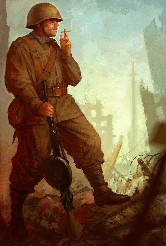 Soviet_machinegunner_by_slipgatecentral