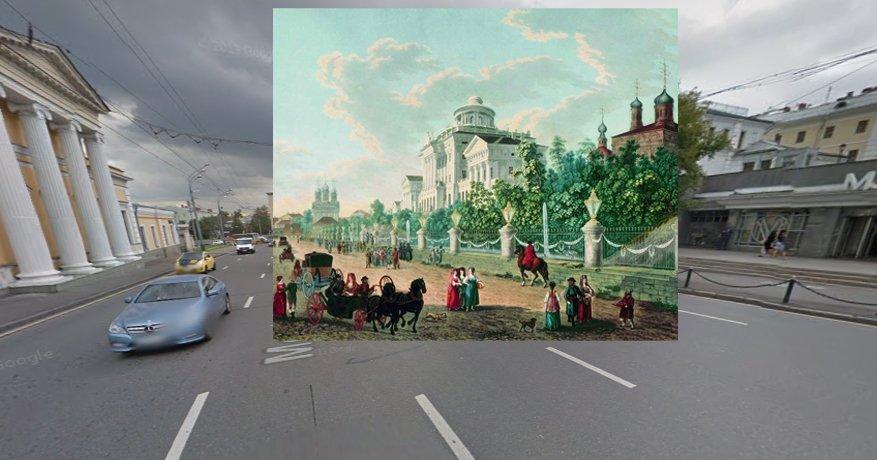 Жерар Делабарт. Вид Моховой улицы и дома Пашкова, 1795 г.