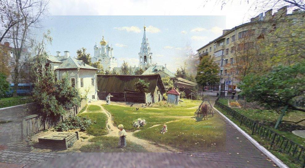 Московский дворик. Василий Поленов, 1878 г.