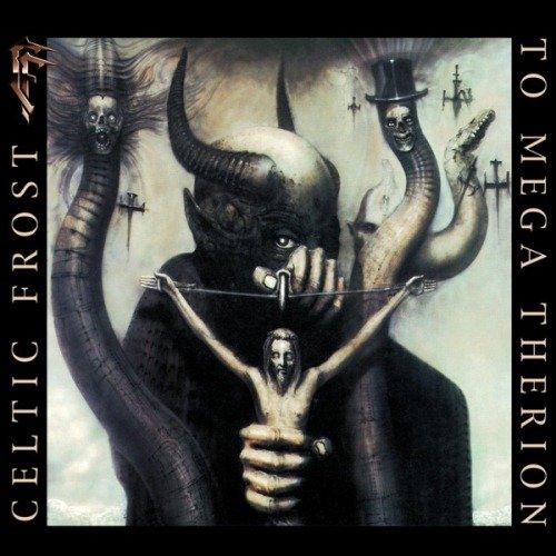 """Обложка альбома """"To Mega Therion"""" (1985) группы Celtic Frost за авторством Ганса Гигера."""
