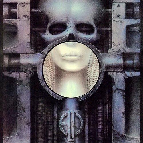 """Обложка альбома """"Brai Salad Surgery"""" (1973) группы Emerson, Lake & Palmer за авторством Ганса Гигера."""