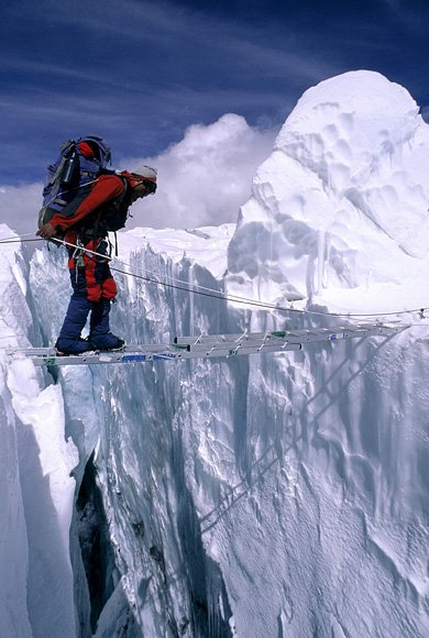 Ледник Кхумбу у подножия Эвереста