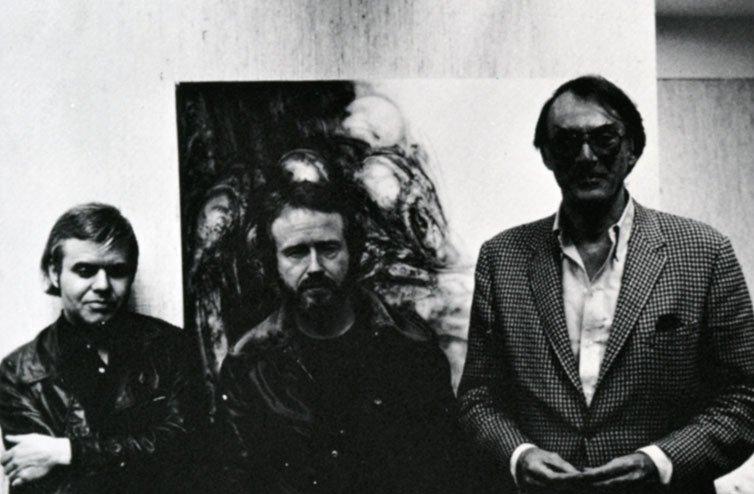 """Слева направо: Ганс Гигер, режиссер фильма """"Чужой"""" Ридли Скотт и продюсер  Гордон Кэрол"""