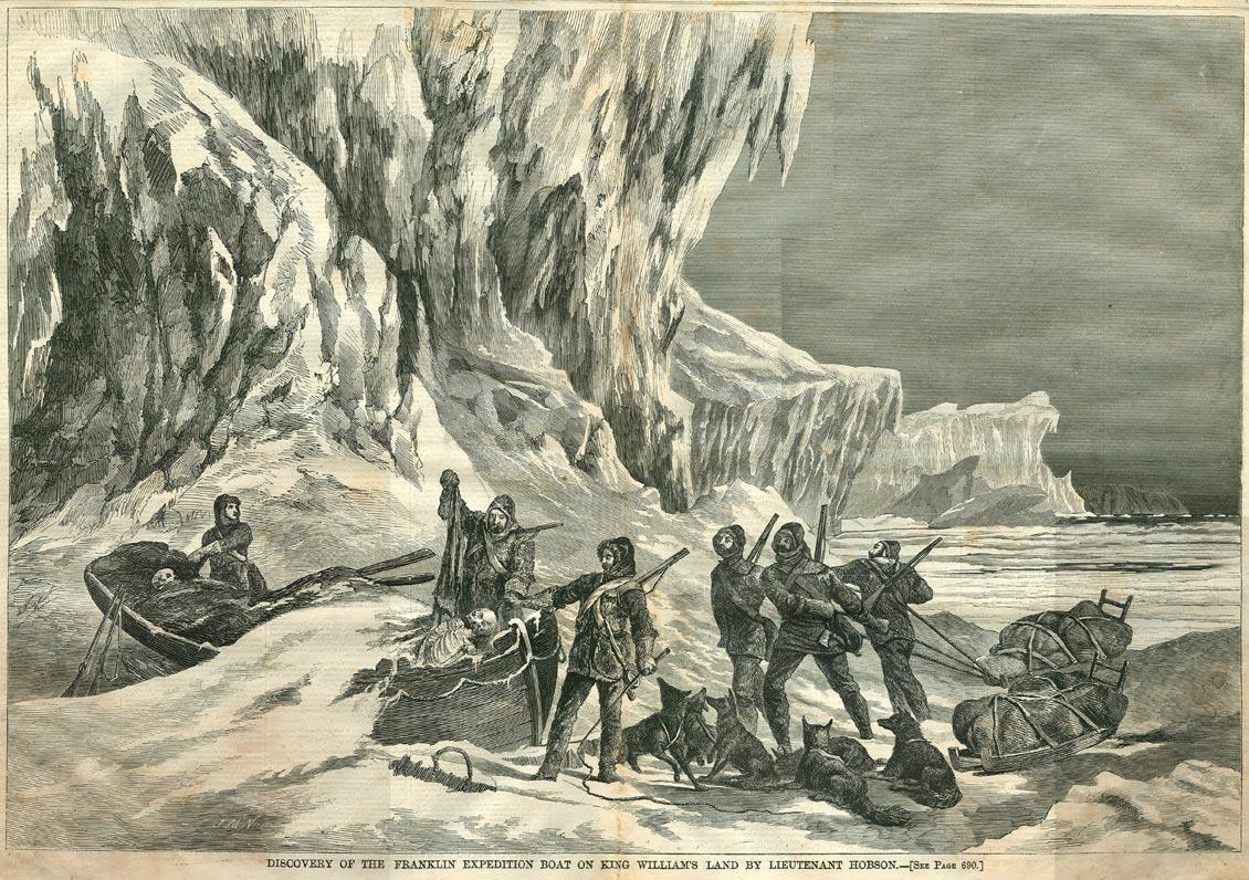Обнаружение шлюпки на острове Кинг-Вильям