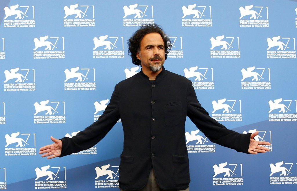 "Director Alejandro Inarritu poses during the photo call for the movie ""Birdman or (The unexpected virtue of ignorance)"" at the 71st Venice Film Festival"