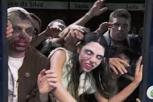 зомби пранк в метро бразилия сеара телерозыгрыш отвратительные мужики