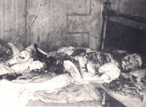 Тело последней жертвы Джека Потрошителя, Мэри Келли. В деле этого маньяка полицейских больше всего удивляла его расторопность: за минимум времени он наносил телам невероятные увечия.