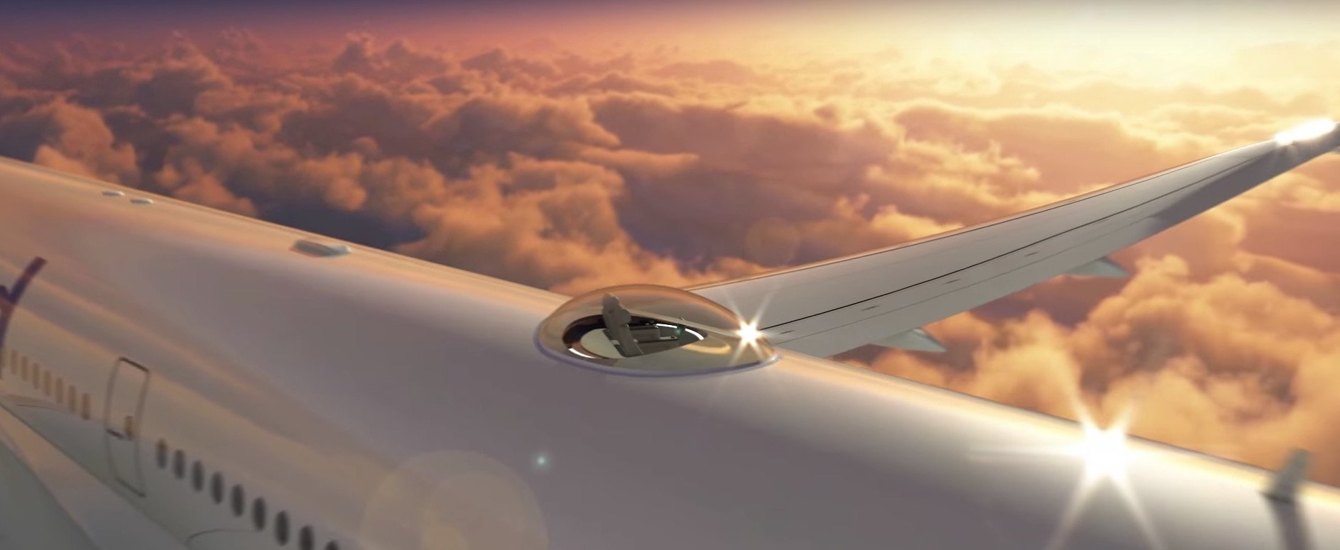 Windspeed SkyDeck капсула панорамный обзор самолеты лайнеры небесная палуба технологии новости отвратительные мужики