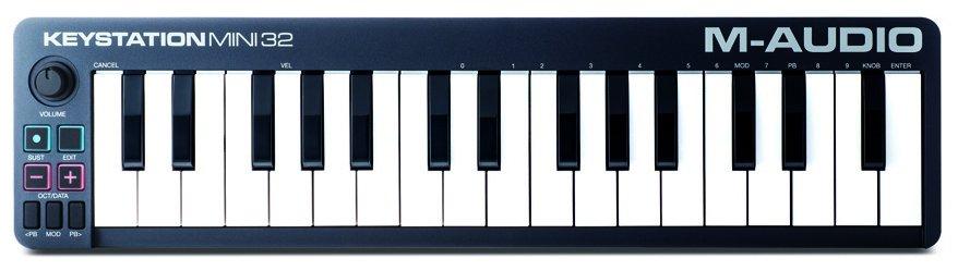 Компактный вариант от M-Audio. Подключается по USB; две с половиной октавы. Средняя цена аналогичных устройств — около 6000 рублей.