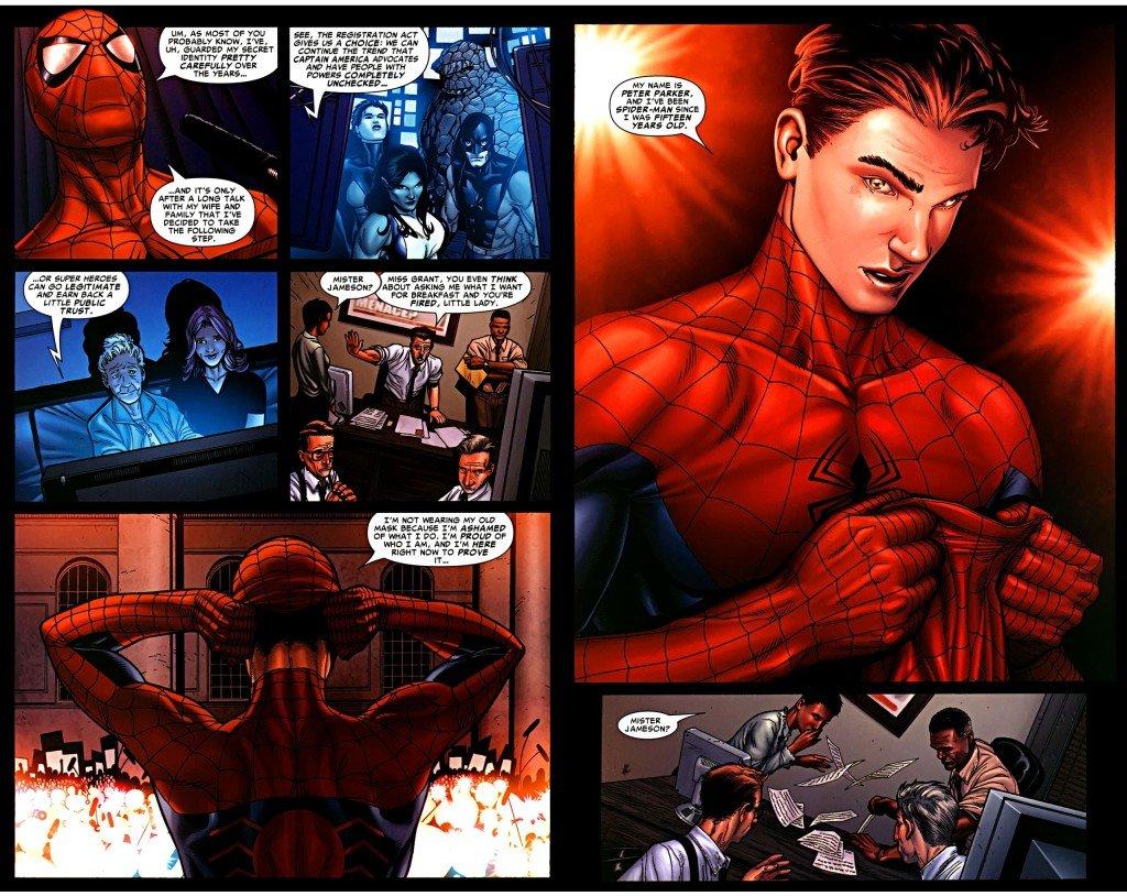 супермен бэтмен комиксы тест отвратительные мужики человек-паук гражданская война