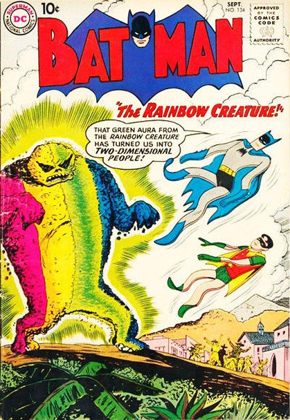 супермен бэтмен комиксы тест отвратительные мужики 2d радужный монстр