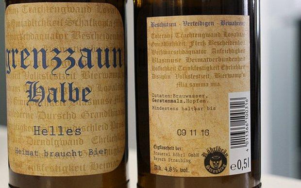 баварское пиво нацизм grenzzaun halbe beer отвратительные мужики