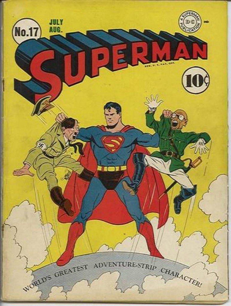супермен бэтмен комиксы тест отвратительные мужики гитлер