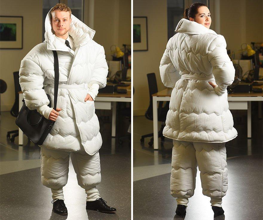 сон спать костюм одеяло изобретения концепт сеть отелей британия Jurys Inn новости отвратительные мужики