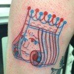 3D-татуировки winston the whale тату 3D отвратительные мужики