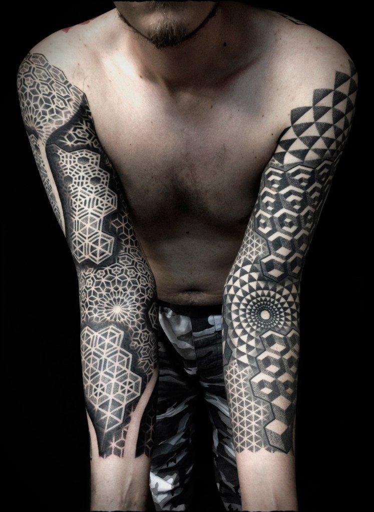 татуировки дотворк dotwork иван hack отвратительные мужики disgusting men