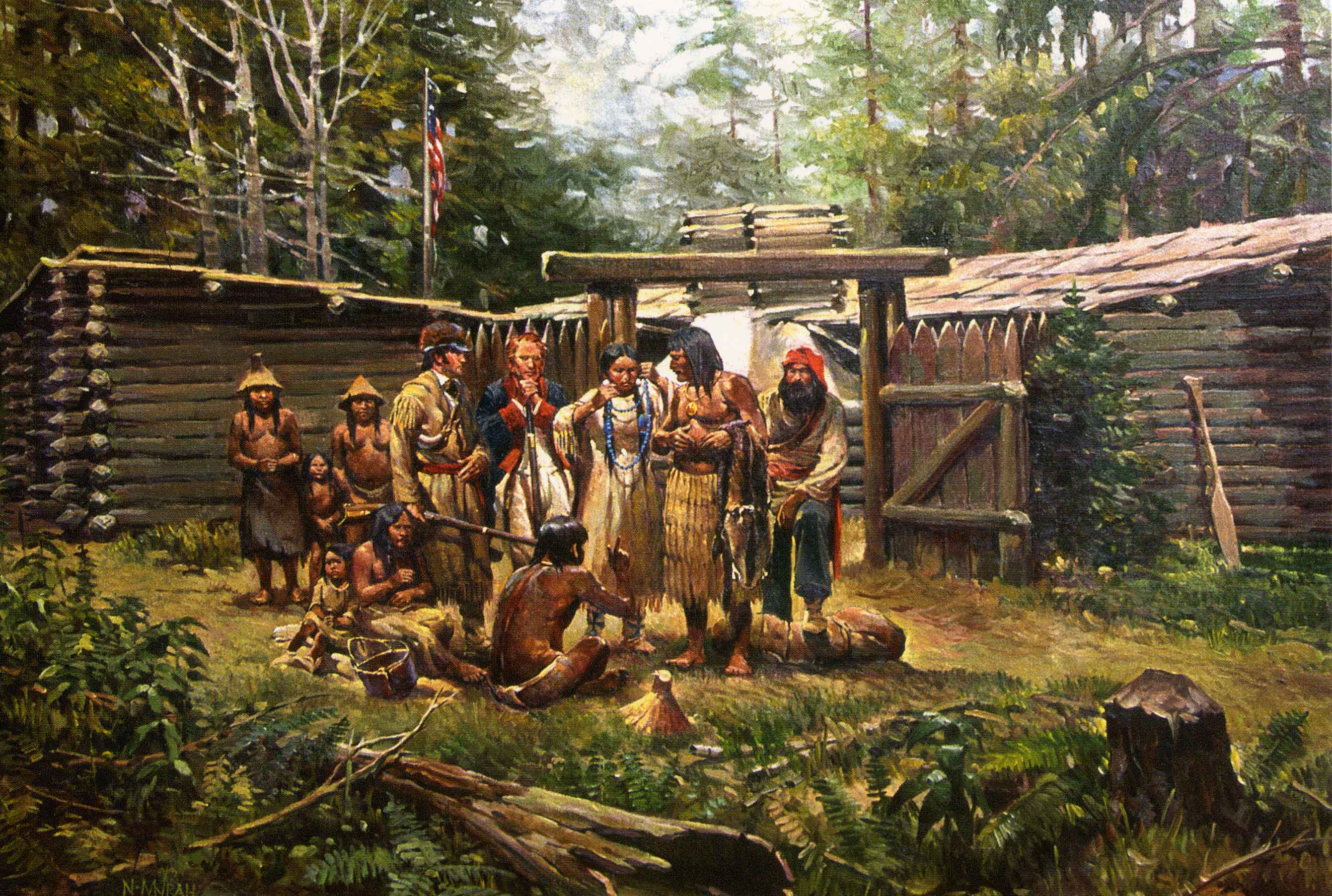 lewis and clark indian relations York of the corps of discovery meriwether lewis and william clark assembled a diverse along with william clark (middle) and an unnamed american indian.