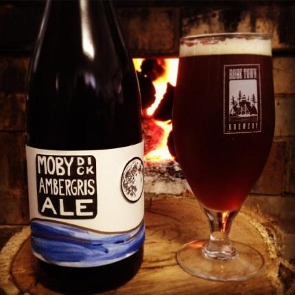 Robe Town brewery Moby Dick Ambergris Ale амбра пиво из блевотниы китов отвратительные мужики disgusting men