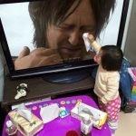 Death Stranding Хидео Кодзима Норман Ридус мем с ребенком плачет e3 2016 sony игры отвратительные мужики