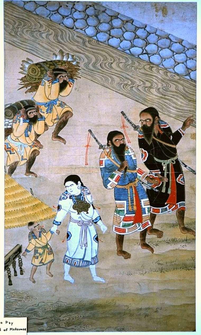 айны япония дземон самураи аборигены самый древний народ отвратительные мужики