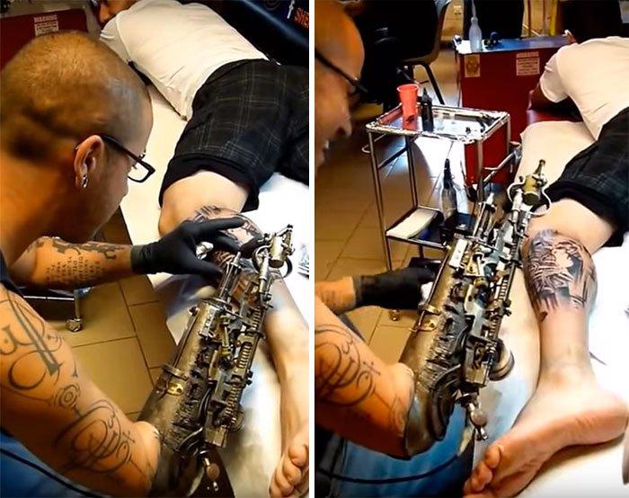 протез тату-машинка отвратительные мужики deus ex disgusting men