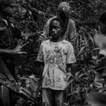 Пойманные гвинейской полицией дети, пересекающие границу с Гвинеей-Бисау. Гвинейская Республика.