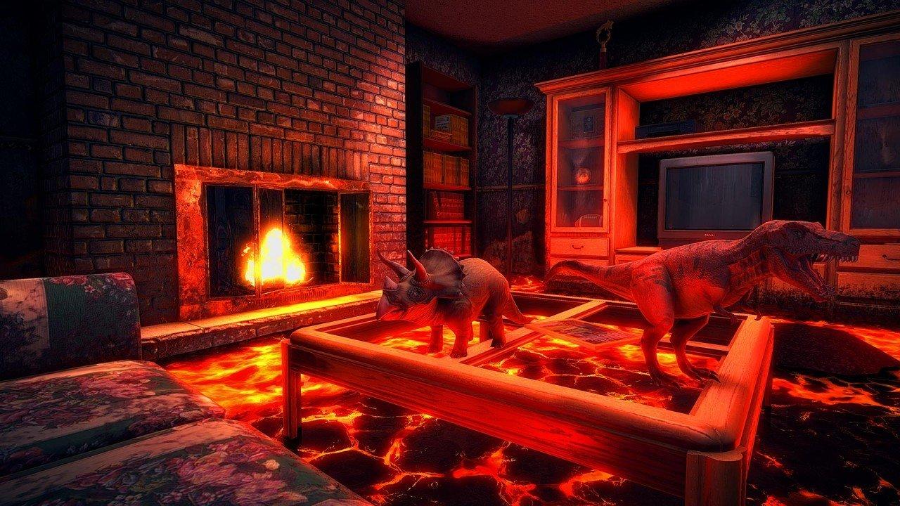 hot lava пол - это лава klei 3D игра отвратительные мужики disgusting men