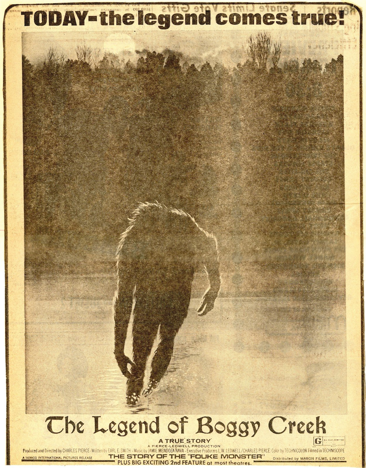 The Legend of Boggy Creek, 1972 mockumentary horror best лучшие фильмы ужасов mondo cane