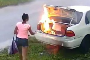 Woman-sets-a-car-on-fire-thinking-it-belonged-to-her-ex