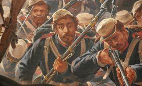 На какой войне погибло 90% всех мужчин в стране?