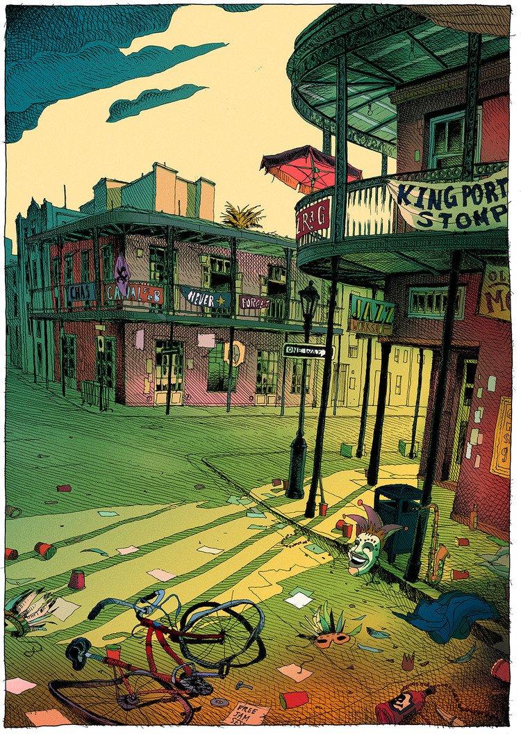 olivier bonhomme оливье боном иллюстратор джазз панк кислотный арт психоделика отвратительные мужики disgusting men