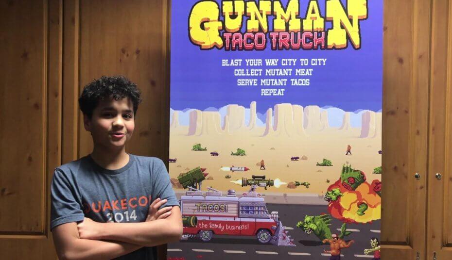 Gunman Taco Truck джон ромеро сын джона ромеро сделал игру ранний доступ бренда брэтуейт romero отвратительные мужики disgusting men