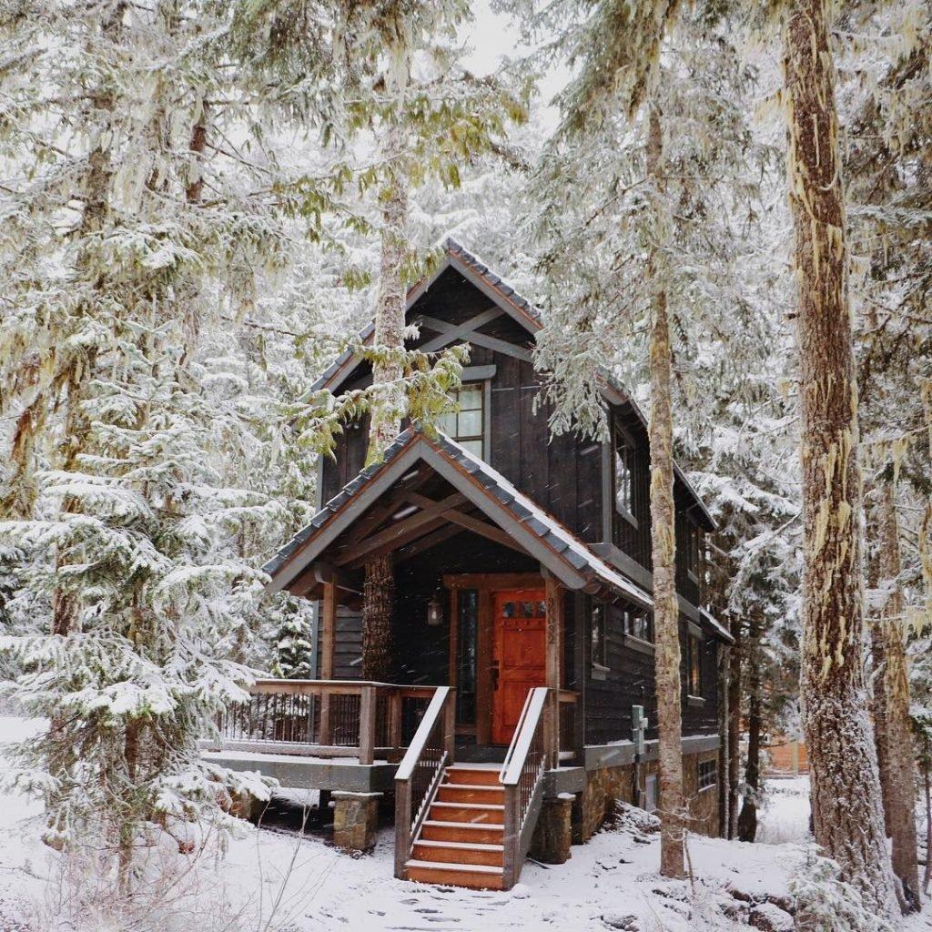 люблю новый год в лесной хижине картинки теплом друзей согрета