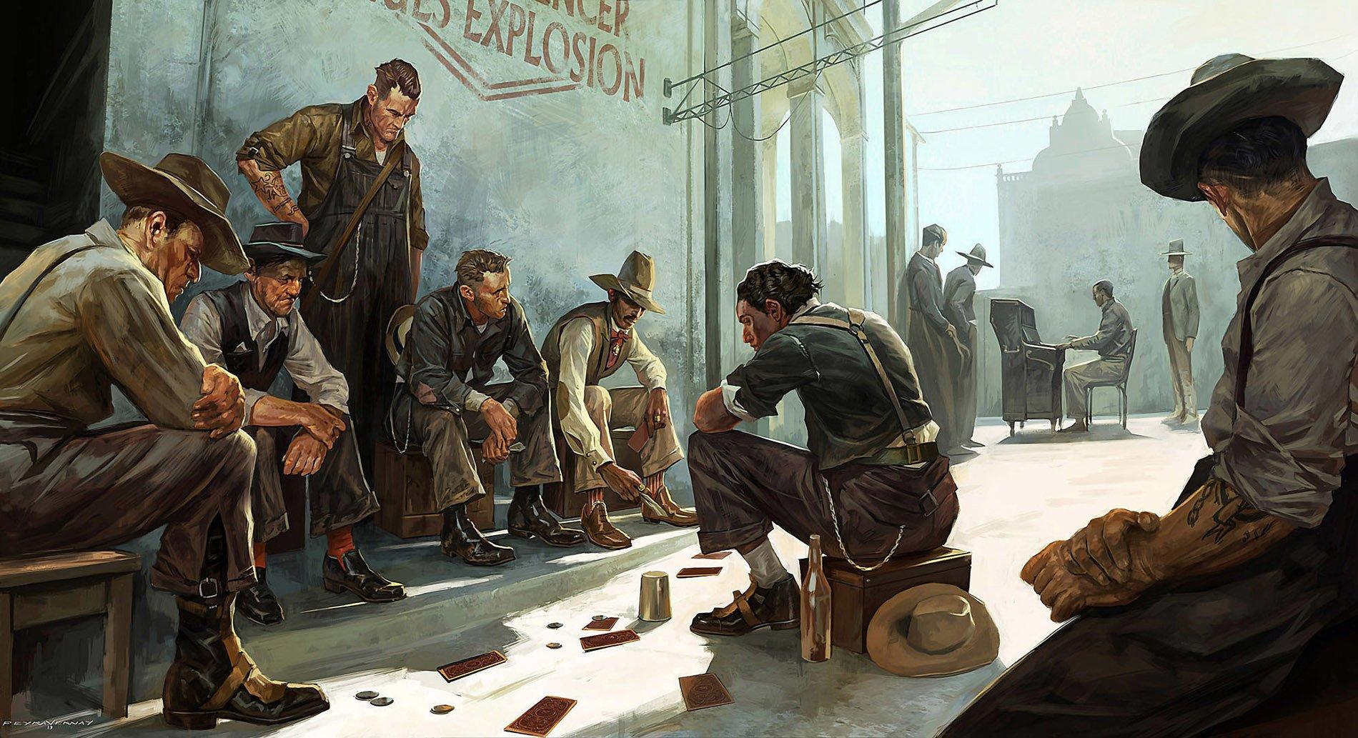 артбук искусство dishonored 2 отвратительные мужики disgusting men