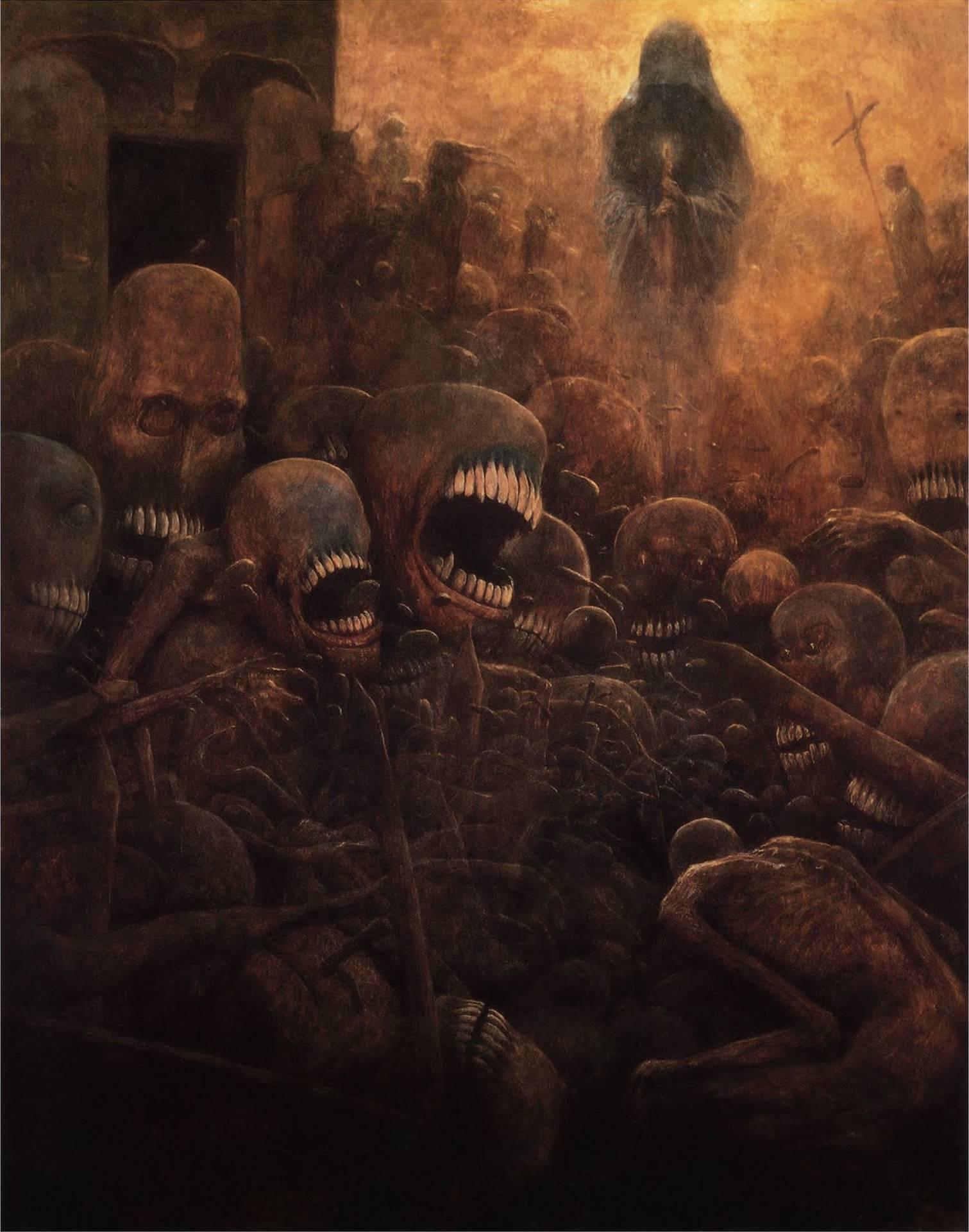 художник Здислав Бексиньский гигер арт отвратительные мужики disgusting men