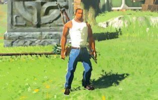 Мод года: Линк из The Legend of Zelda превращается в Си-Джея из San Andreas