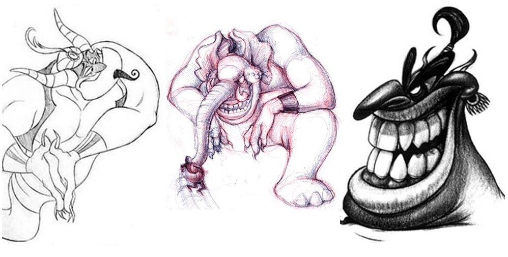аладдин иультфильм алладин концепт-арты 25 лет алладину арт отвратительные мужики disgusting men