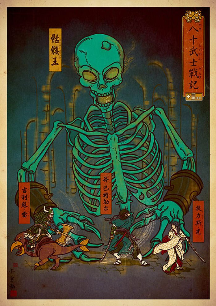 японские арты видеоигры в японском стиле джед генри укие-э отвратительные мужики disgusting men