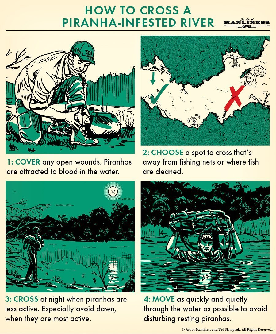 как переплыть реку пираньи гайд выживание отвратительные мужики disgusting men
