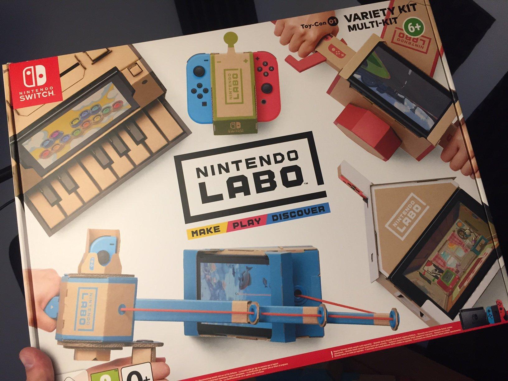 Nintendo Labo Обзор Review Нинтендо Лабо Variety Kit Набор Ассорти