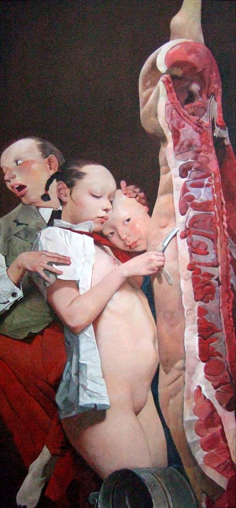 вэй донг wei dong арт искусство живопись отвратительные мужики disgusting men