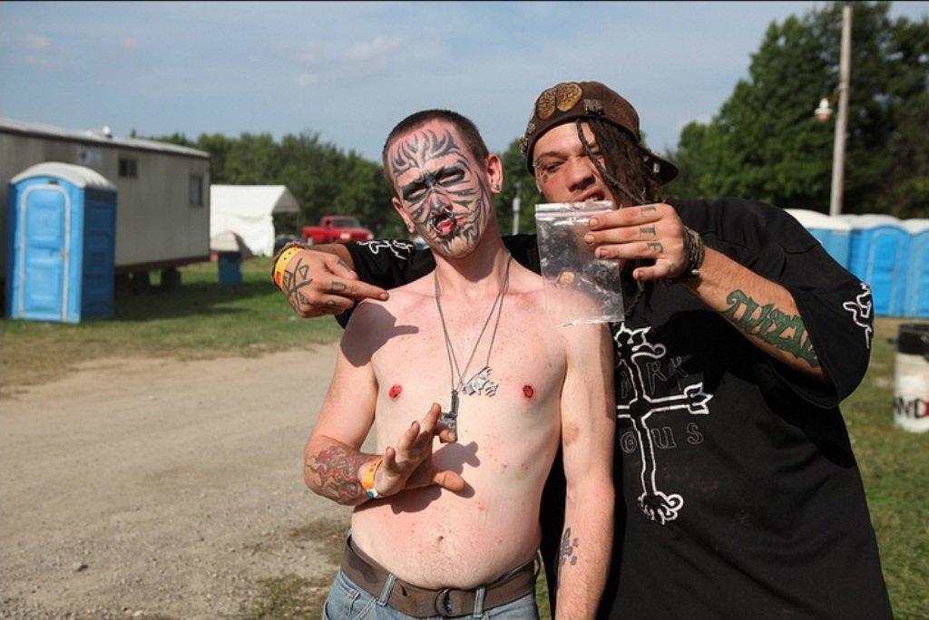самые жестокие банды субкультура джаггало ббезумные клоуны juggalo отвратительные мужики disgusting men
