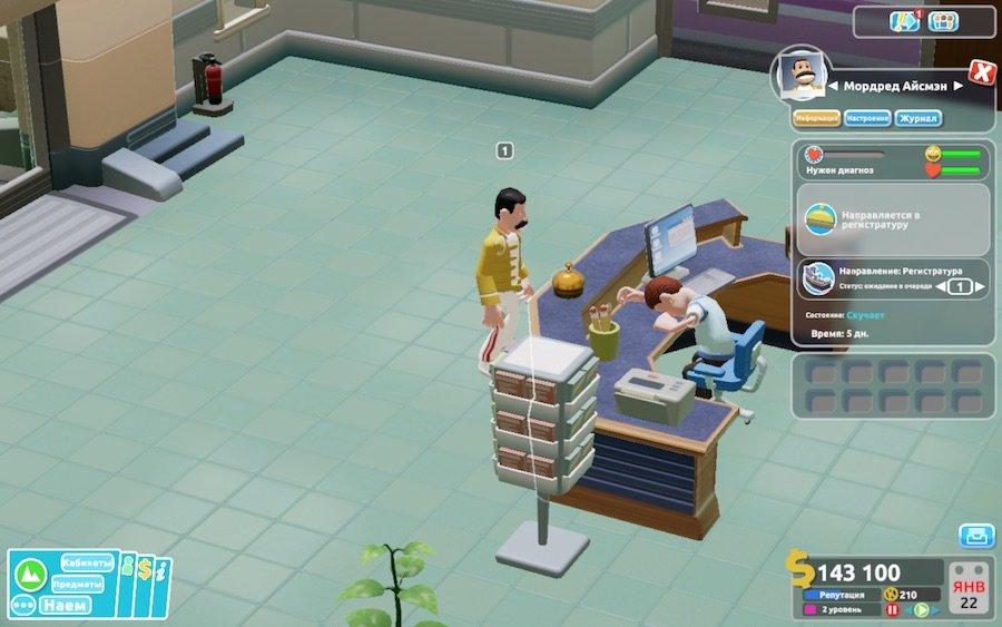 Two Point Hospital Обзор Рецензия Theme Hospital