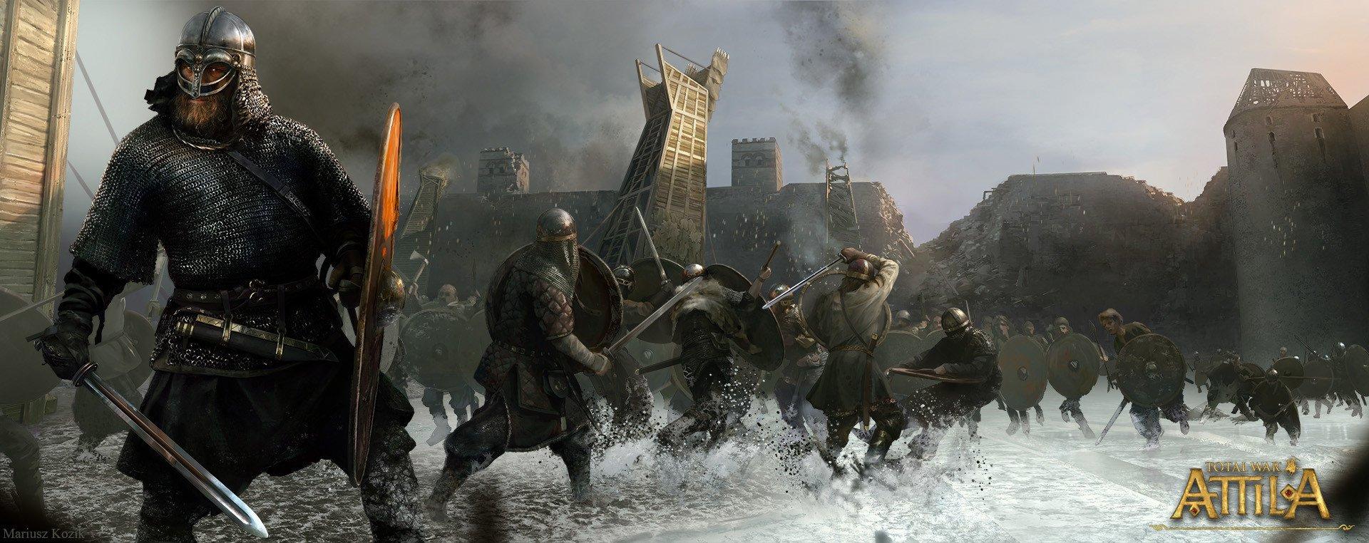 Total War: ATTILA апокалипсис отвратительные мужики disgusting men