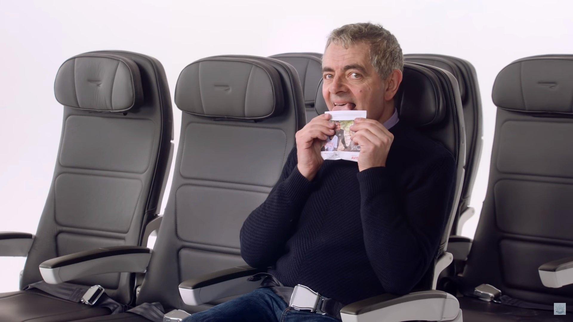 rowan atkinson airways safety video случайные обзоры отвратительные мужики disgusting men