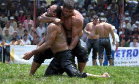 Киркпинар — борьба мужчин со стальными анусами и яйцами