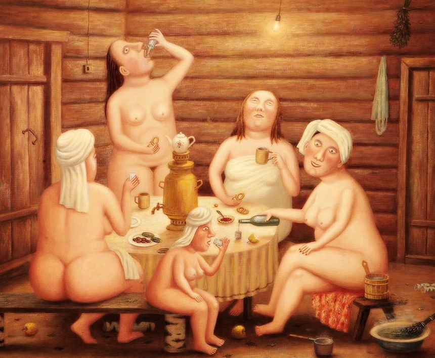баня зимой жизнь отвратительные мужики disgusting men